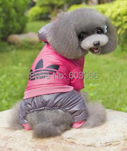 Retailed Factory  Hot Sale Cartoon Pet Dog thickness snow coat warm jacket hoody Outerwears clothes Christmas New year clothes