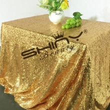 90x108in-Gold Sequin Tablecloth Sparkle Table Linens Rectangle  for Wedding/Christmas/Any Party