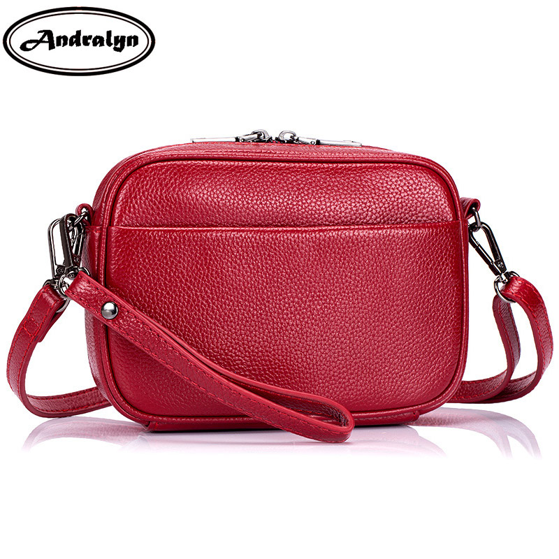 Andralyn Womens Shoulder Bag Messenger Crossbody Bags Evening Genuine Leather Clutch Bag for Ladies Girls Wristlets<br>
