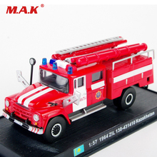 1:57 Scale Red Fire Truck Models 1/57 Diecast Fire Truck Model Car Toys Vehicles With Box Gift for Children(China)