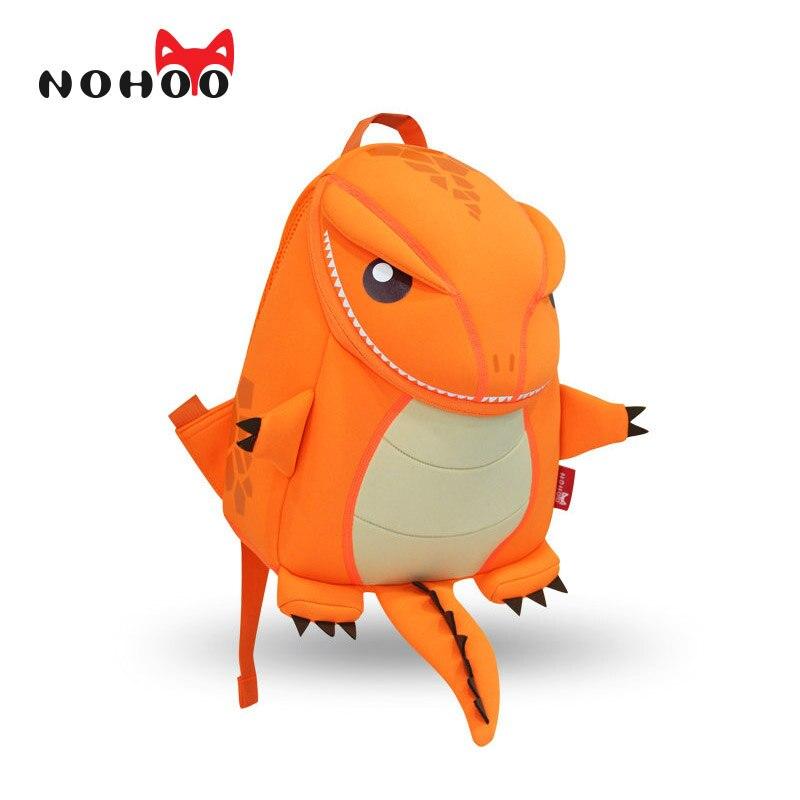 NOHOO Orange Green Dragon Kids Baby Cartoon Waterproof School Bags 3D Animals Backpack For Girls Boys School Bags For Teenager<br><br>Aliexpress