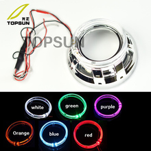 Car styling 3.0 inch Angel Eyes Lens Light For Headlight HID Bi-xenon And 2 Pcs Decorative Cover Bezels Shrouds Car-covers