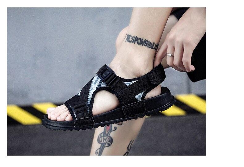 Slippers Men's Sandals Men's Summer Men's Sandals And Slippers Non-slip Beach Fashion Outdoor Wear Drag Trend 79 Online shopping Bangladesh