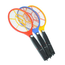 New Fashion Handheld Electronic Mosquito Bug Zapper Fly Swatter Racket LED Light Indicator for Camping Hiking(China)