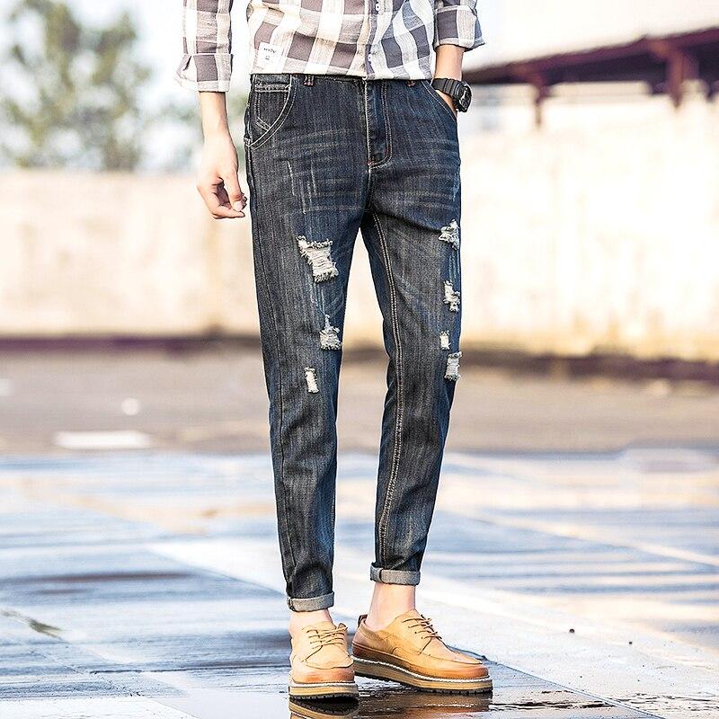 free shipping 2017  male straight leg denim trousers men fashion brand jeans  mens business pants black jeans menОдежда и ак�е��уары<br><br><br>Aliexpress