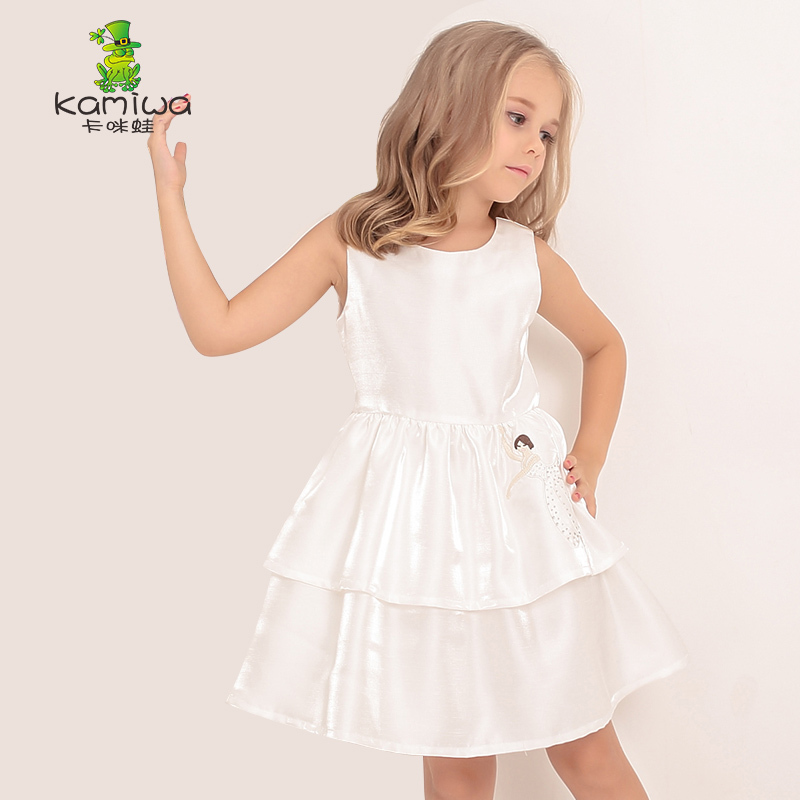 KAMIWA 2017 Summer Swan Bowknot Ball Gown Brand Girls Dresses Princess Wedding Birthday Party Teen Children Clothing Kid Clothes<br>