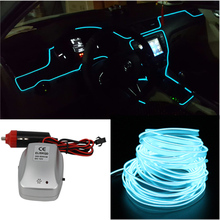 6m Car decorative lights Driving at night Ambient Light EL cold light line DIY decorative dashboard console door multifunctional