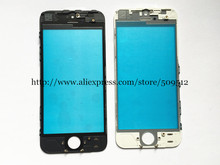 10pcs good Quality Outer Glass with Bezel Frame For 5 5c 5s 6 6s plus 7 7 plus Front Glass+frame lcd repair part(China)