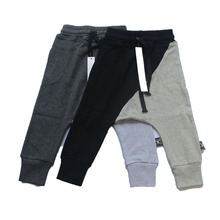 2017 Children Brush Stroke Baggy Pants Boys Half & Half Patchwork Harem Pants Kids Trousers Bottom Clothes Nununu Bobo Choses