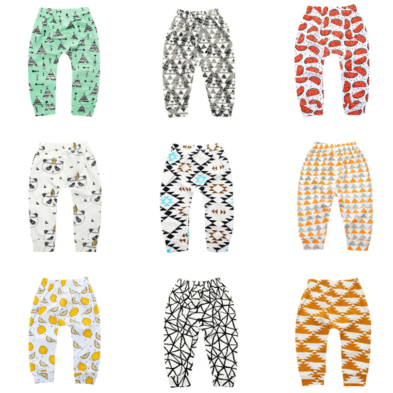 Baby Boy Girls Harem Pants Toddler Kids SweatPants Cropped Trousers Bottoms 1-5Y