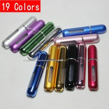 100pcs perfume bottles 5ml refillable perfume atomizer sprayer mini empty metal aluminum bottle