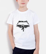Classic Heavy Metal Metallica Rock t shirts kids tops 2017 new fashion tops brand clothing funny tops children t shirt boys tee