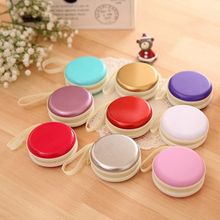 1Pcs Uniquely Ball Shape Super Deal Storage Box Mini Earphone SD Card Macarons Bag Storage Box Case Carrying Pouch 8 Colors(China)