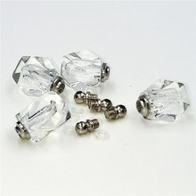 5pieces 10*14mm screw cap rhombus vial pendant Crystal Perfume bottle Necklace Pendant charms name or rice art