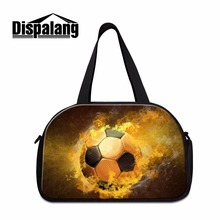 Dispalang Soccerly Design Men's Large Capacity Travel Bag Tote Luggage Bags Shoulder Duffle Bags For Boys Overnight Weekend Bag