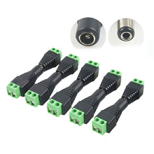 5pcs D2V Plug Adapter Connector Male For 5050 3528 LED Strip Light Power Supply Electrical Equipment Supplies Quality(China)