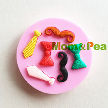 Mom&Pea MP169 Free Shipping Handlebar Mustache Silicone Mold Cake Decoration Fondant Cake 3D Mold Soap Mold Food Grade(China)