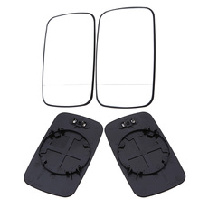 POSSBAY Car-styling White Left/Right For BMW E46 4 Door 1998-2006 Mirror Heated Glasses Rear View Lens(China)
