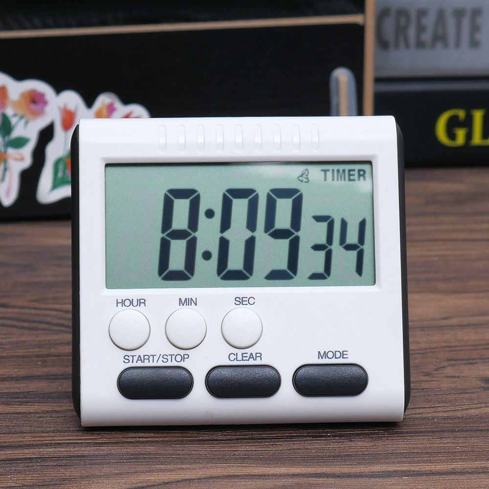 LCD Digital Large Kitchen Cooking Timer Count-Down Up Clock Loud ...