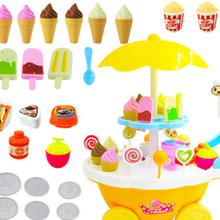 Children pretend to play fun ice cream candy boat barbecue mini trolley birthday children's day gift