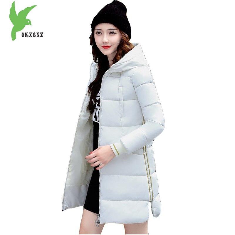 Cotton Costume Jackets Women Winter Medium Length Coats Fashion Hooded Outerwear Plus Size Female Slim Down Cotton Parkas OKXGNZÎäåæäà è àêñåññóàðû<br><br>