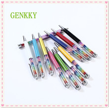 1PCS GENKKY 11 Colors Rainbow Diamond Ballpoint Pen Crystal Ball Point Pens Stationery Ballpen Office School Promotion Gift