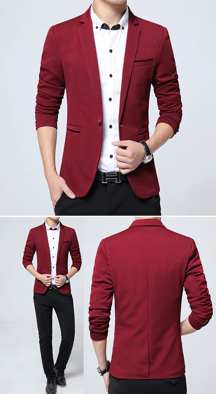 17 Autumn Fashion slim fit Mens blazer Burst models high quality Suit Jacket for Men free delivery Male blazers size 4XL 5XL 7