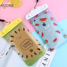 KISSCASE 5.5 inch 30 Meter Waterproof Phone Bag Case For iPhone 7 6 6S Plus Case Cute Fruit Pattern Pouch For Samsung For Huawei(China)