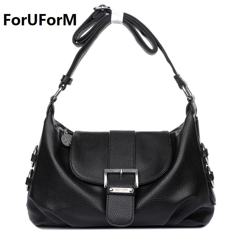 Guarantee 100% Genuine Leather Womens Messenger bags Vintage Shoulder Bag Female Cross-body Soft Casual Shopping Bags LI-1063<br>