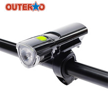 Hot Sale Outerdo Sports Bicycle MTB Front LED Light Strong Flashlight Folding bike Equipment Bicycle Accessories  Bicycle Lights