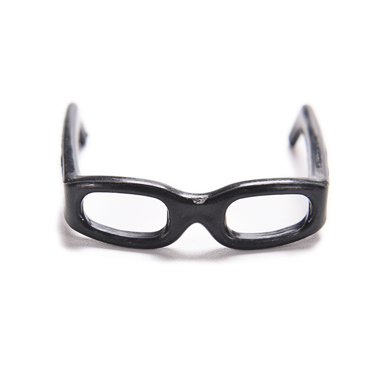 20Pcs High Quality Fashion Black Fashionable Lensless Glasses For Doll Girls Birthday Gift Dollhouse Accessories