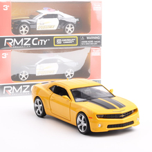 UNI-FORTUNE 1/36 Scale USA Chevrolet Camaro Police Edition Diecast Metal Pull Back Car Model Toy For Gift/Collection/Kids