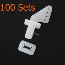 100Sets /lot Nylon Pin Horns 21x11 (4 Hole) For RC Airplane Parts Remote Control Foam Electric Plane Aeromodelo FM11-605B(China)