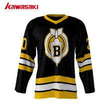Brand Kawasaki Custom Ice Hockey Jersey Mens Bomb Style 20# Black Color Fit Size Youth Breathable Practice Hockey Sports Top