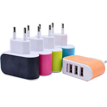 EU Plug 3.1A Triple USB Port Wall Home Travel AC Charger Adapter for iPhone iPad
