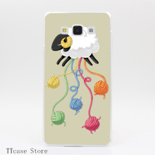 4127CA Wool Thread Transparent Hard Cover Case for Galaxy A3 A5 A7 A8 Note 2 3 4 5 J5 J7 Grand 2 & Prime