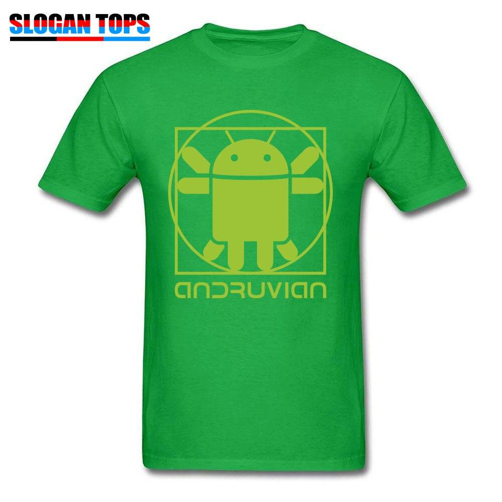 Vitruvian Droid green Men Funny Gift Tops & Tees O-Neck Summer Cotton T Shirts Summer Short Sleeve Tee Shirt Free Shipping Vitruvian Droid green green