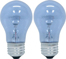 48706 40-Watt Reveal A15 Appliance Bulb, 2-Card(China)