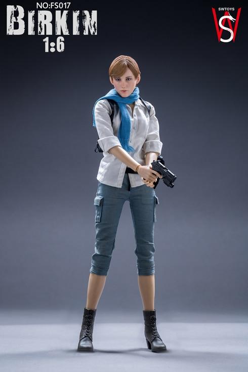 """SWtoys FS017 1//6 Sherry Birkin Gun belt model Resident Evil 6 For 12/"""" Figure"""