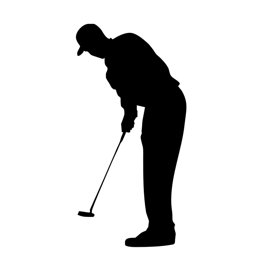 Hot Sale Living Room Sport Silhouette Wall Mural Home Decor Golf Forward Putter Sticker For Bedroom Accessorie