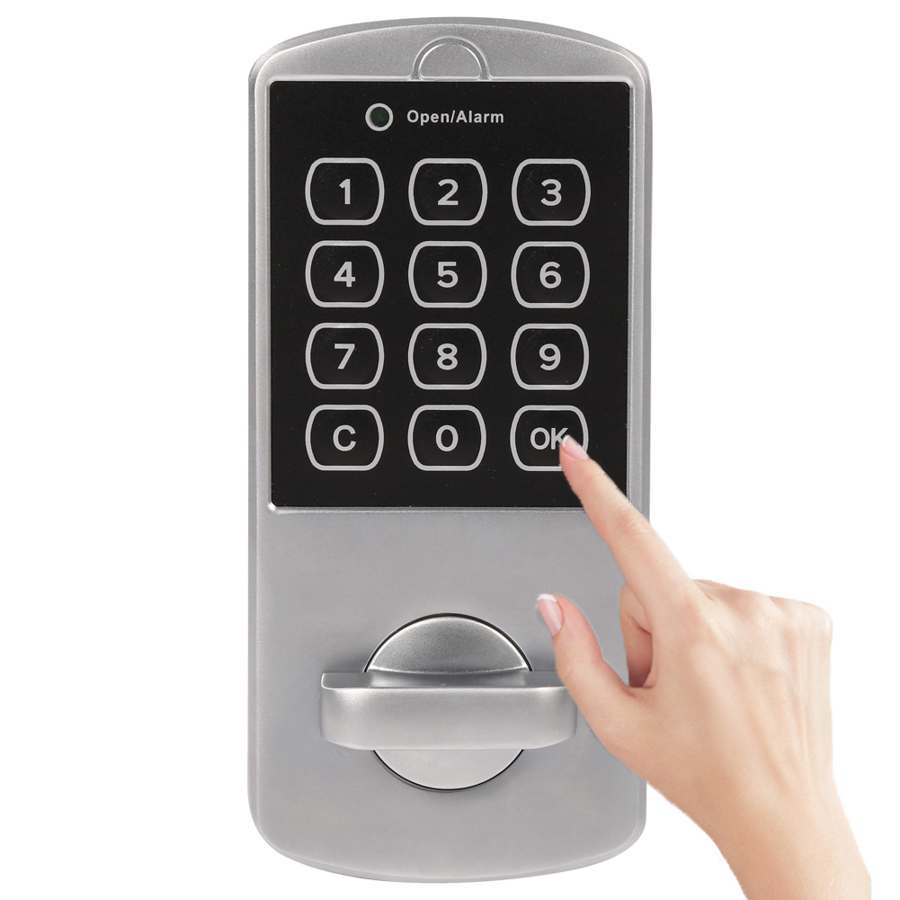 1 Set Door Lock Keypad Password Key Access Lock Cabinet Coded Locker Touch Digital Electronic Security Door Locke New Arrival(China (Mainland))