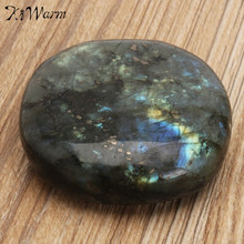 KiWarm Hot Sale 1PC Large Tumbled Stone Labradorite Quartz Crystal Healing Mineral Rock Specimens Paperweight Home Decor Crafts(China)