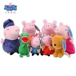 Оригинальные Плюшевые игрушки для всей семьи Peppa Pig Peppa Семья Свинки Пеппы игрушки для детей куклы для хобби и мягкие плюшевые игрушки Нового...