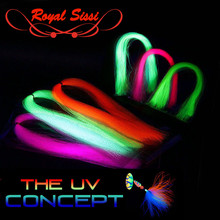 Uv-Hue Synthetic-Tying-Material Uv-Fluo Flashabou Streamers Steelhead for Tinsel Twist-Type