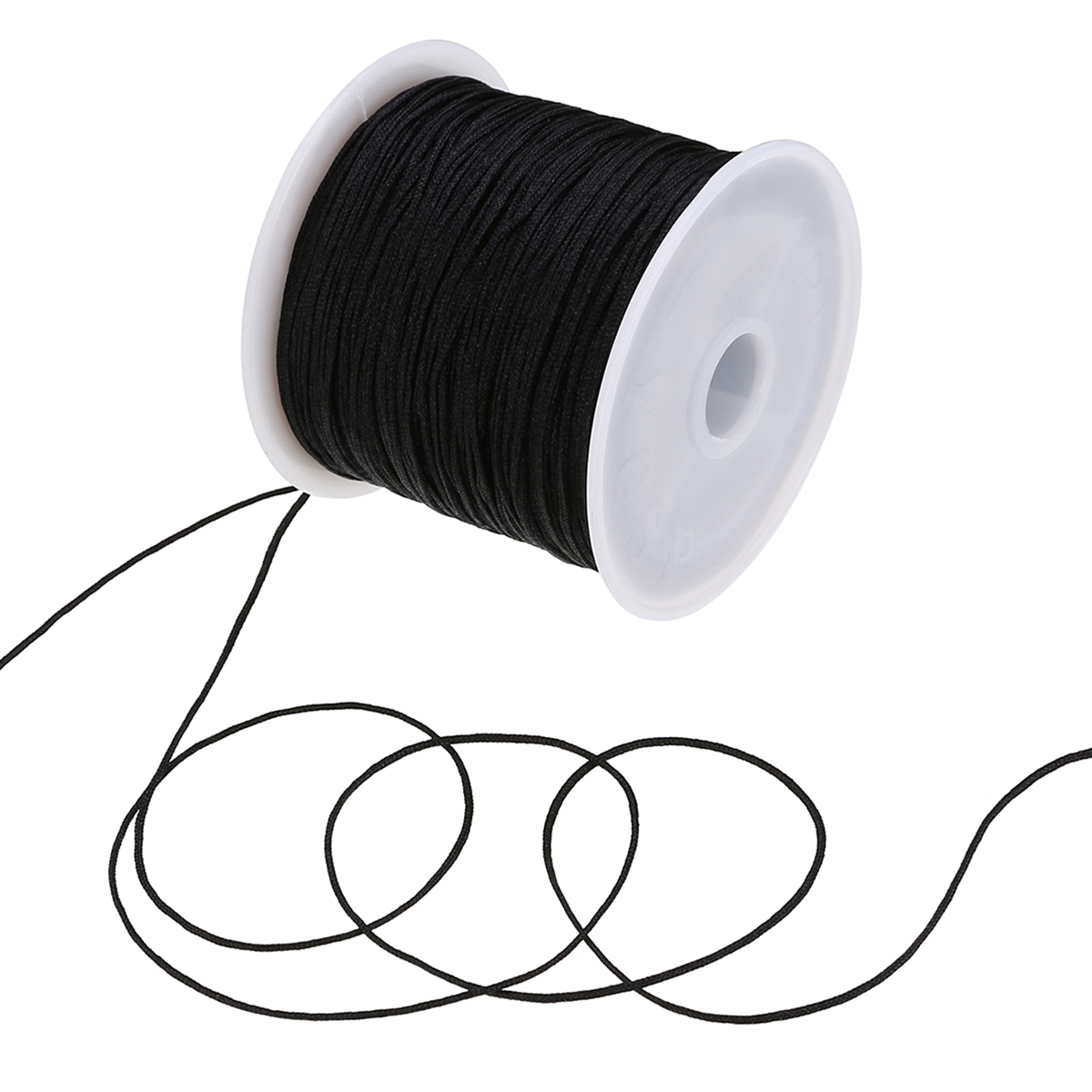 New 0.8mm 45M/Roll Nylon Cord Thread Chinese Knot Macrame Rattail Bracelet Braided String for DIY Craft Sewing Accessories
