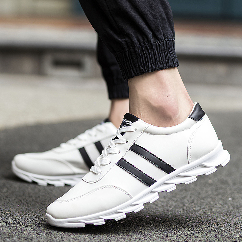 New 2017 Men Shoes Black/White Driving Casual Lace-Up Canvas Men Flats Sport Footwear Outsole Comfortable Shoes For Men<br><br>Aliexpress