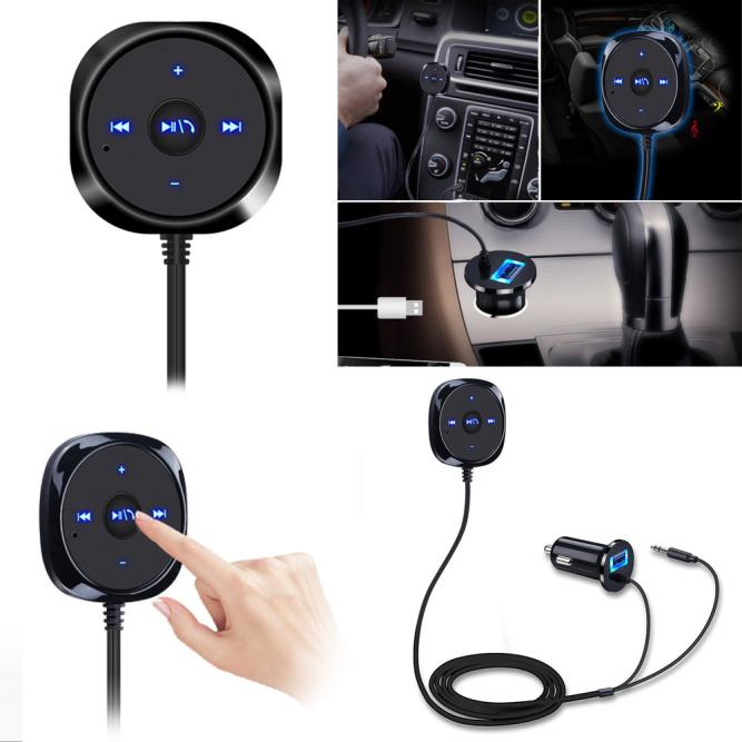 Dropship CARPRIE Bluetooth 4.0 Wireless Music Receiver 3.5mm Adapter Handsfree Car AUX Speaker Gift May 24