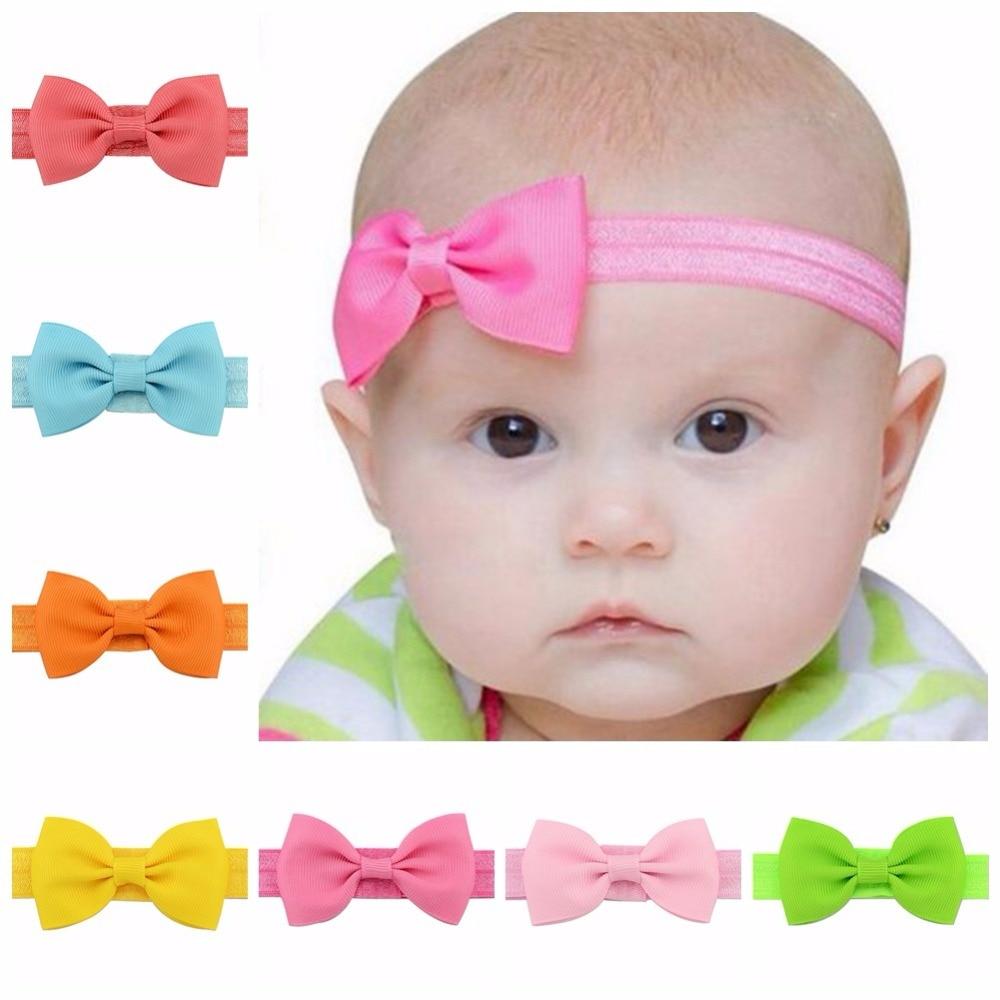 3pcs nouveau-né Bandeau Coton élastique Bébé Imprimé Floral Cheveux Band filles Bow-Knot Accessoires de coiffure pour bébé