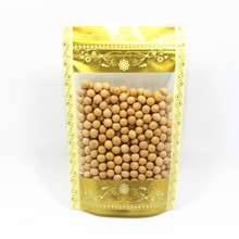 Gold 100Pcs/Lot Stand Up Bags Ziplock Clear Packing Bag With Window Self Seal Plastic Food Grip Bags Retail Pack Bags
