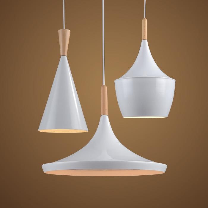 Modern Pendant Light Wood Metal Lamp E27 Socket Loft Hanging Light 3 Styles White Fixture Industrial Lighting Lamparas WPL068<br>